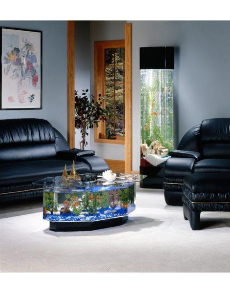 Восьмиугольный-аквариум-кофейный-столик
